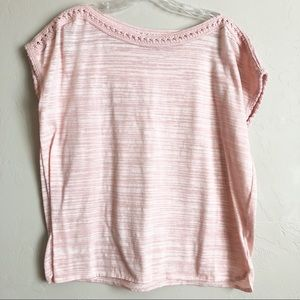 4/$25 Rose & Olive Heathered Pink Top